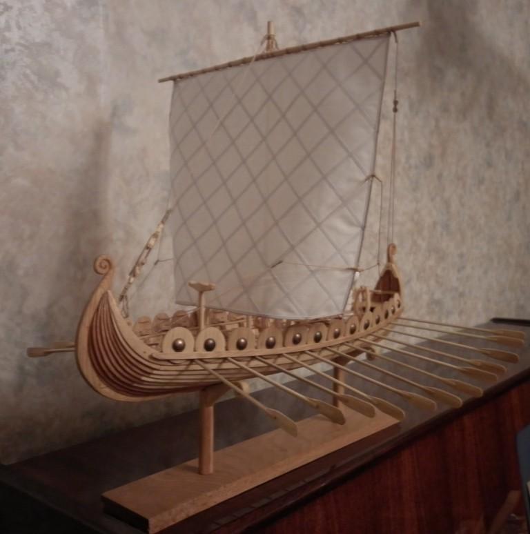 Модель корабля Драккар (корабль викингов). Фото 1